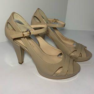 Franco Sarto SPIRO Peep-Toe Pumps Ankle Strap 6M
